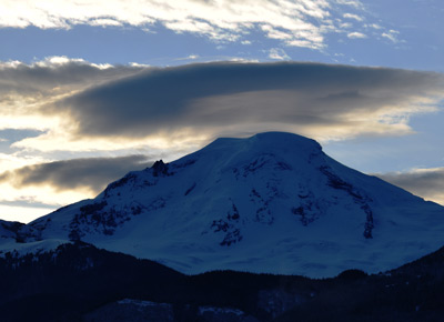 Mt Baker lenticular cloud