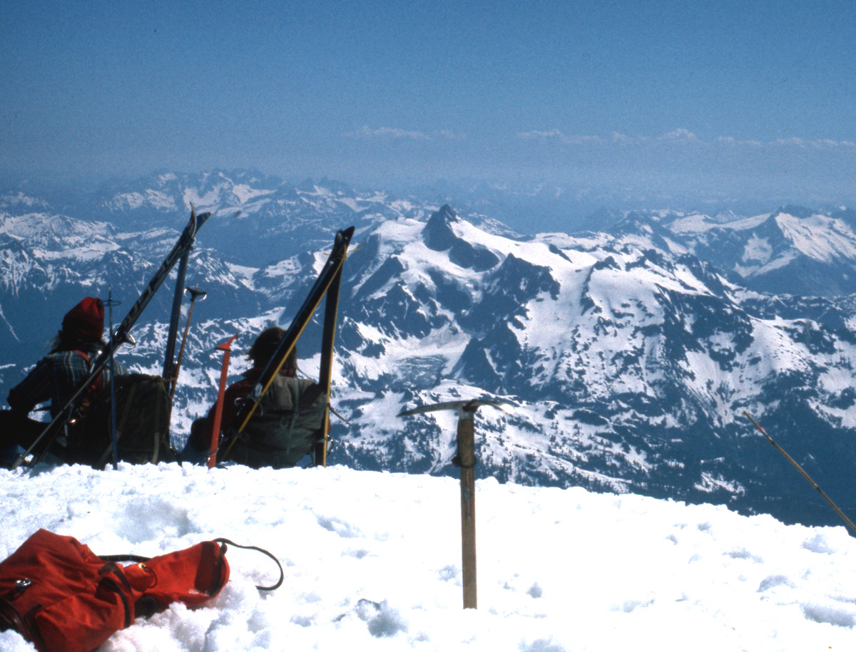 Summit of Mt. Baker with Mt. Shuksan view